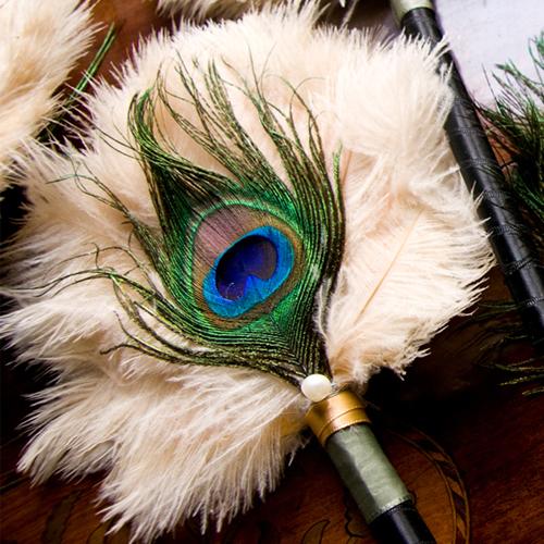 [Caption]Chiếc lông công biểu trưng cho vẻ đẹp thanh cao, quý phái.