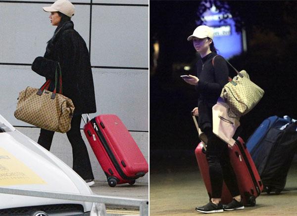 Người tình bí mật của Valencia khi mới đến khách sạn ở Manchester (trái) và rời đi 3 ngày sau.