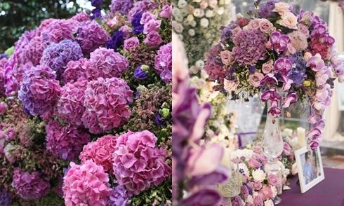 Lễ ăn hỏi trang trí bằng 8.700 cành hoa nhập ở Hà Nội