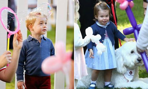 Hoàng tử George và em gái vui đùa ở Canada