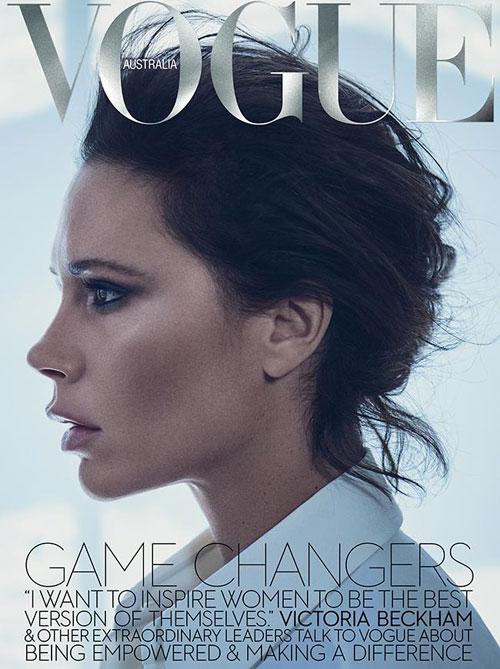 Vic trên trang bìa tạp chí Vogue phiên bản Australia số tháng 11.