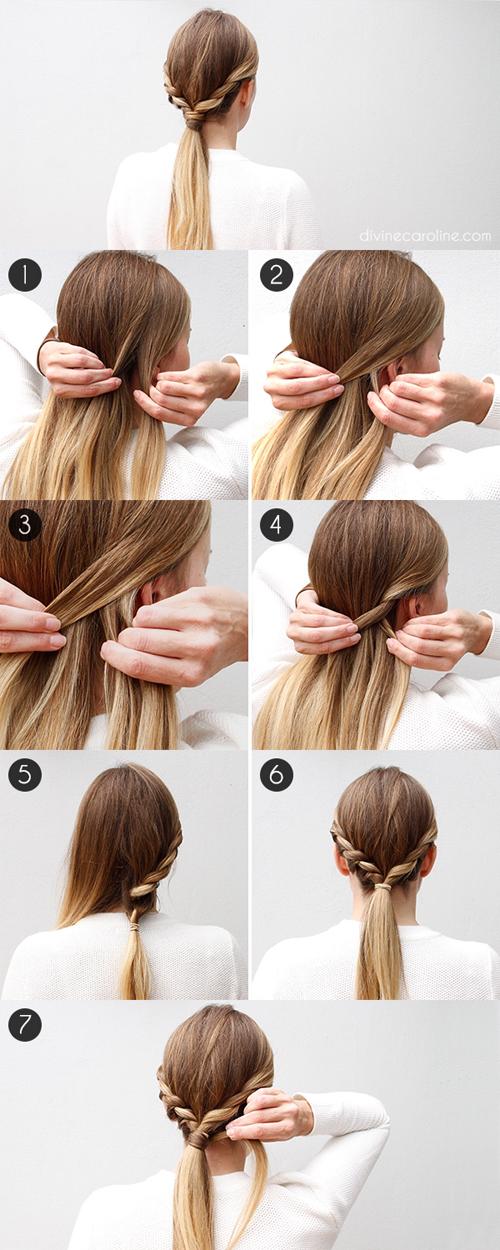 Kiểu tóc tết cuộn hai bên này sẽ mang đến cho bạn những lọn xoăn đẹp mắt sau khi xõa tóc.