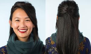 6 cách tạo kiểu tóc đẹp khi diện khăn quàng cổ