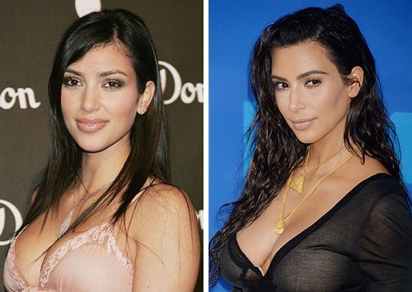 Kim Kardashian hợp với mái tóc xoăn
