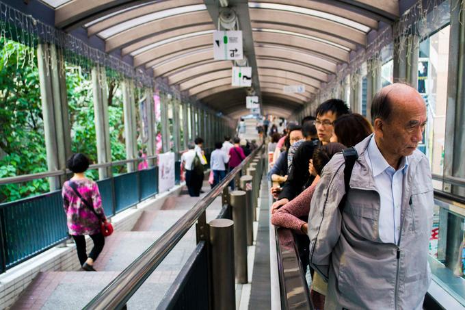Thang máy dài nhất thế giới ở Hong Kong