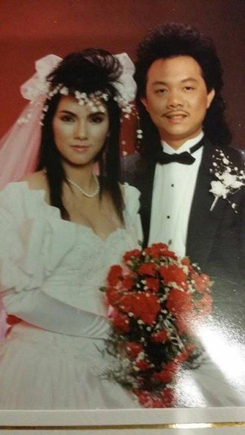 [Caption]năm 1987, Chí Tài kết hôn với ca sĩ Phương Loan, một trong những ca sĩ chính của ban nhạc Chi Tai Brother vào những năm thập niên 70 cùng với Chí Thiện, Quang Mỹ, Kiều Linh và Lê Huỳnh.