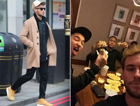 The Sun cho biết, Neymar khiến ông thầy Luis Enrique không hài lòng vì ăn đồ ăn nhanh tại xứ sở sương mù