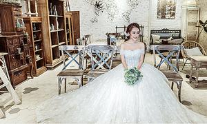 Váy cưới bồng bềnh giúp tân nương hóa công chúa