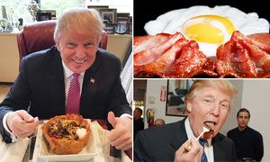 Thói quen ăn uống bình dân của Donald Trump