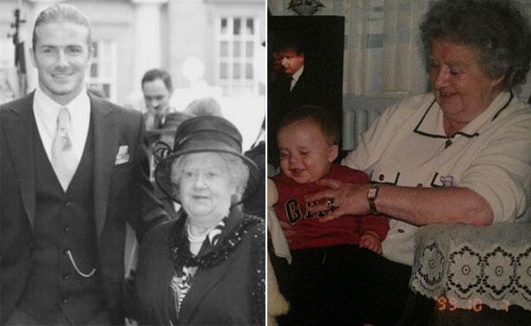 Becks và con trai cả Brooklyn đều chia sẻ ảnh và kỷ niệm về người bà quá cố Peggy West. Ảnh: Instagram.
