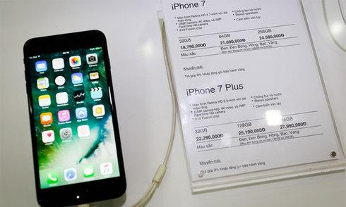iPhone 7 chính hãng mở bán ở Việt nam