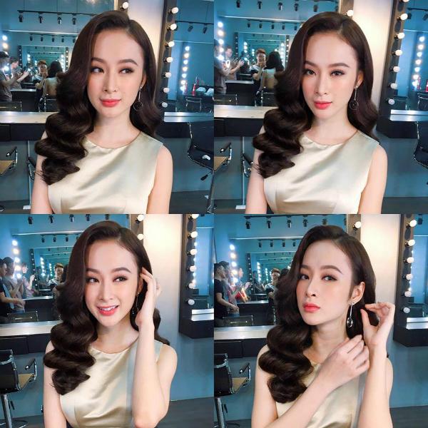 Angela Phương Trinh xinh ngất ngây với mái tóc xoăn bồng bềnh cổ điển.