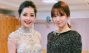 Chi Pu diện váy xuyên thấu 'đọ sắc' cùng Park Shin Hye