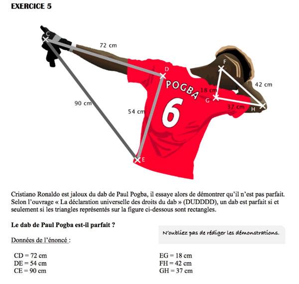 Đề kiểm tra có tên Pogba và C. Ronaldo