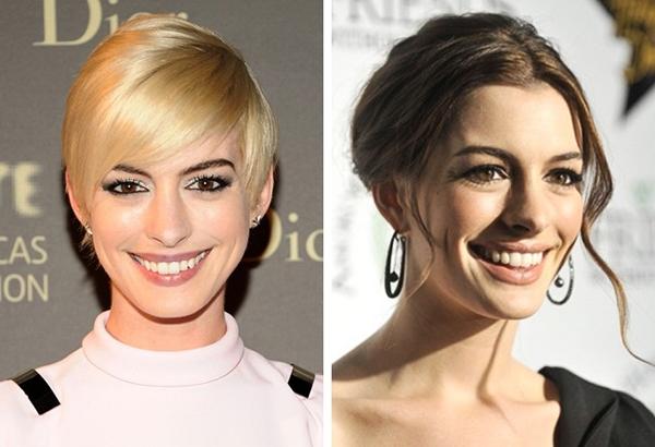 Anne Hathaway quyến rũ hơn hẳn khi thay màu tóc.