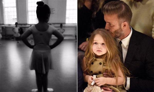 Becks tranh thủ trò chuyện với các ông bố khác khi đưa Harper đi học ballet hàng tuần.