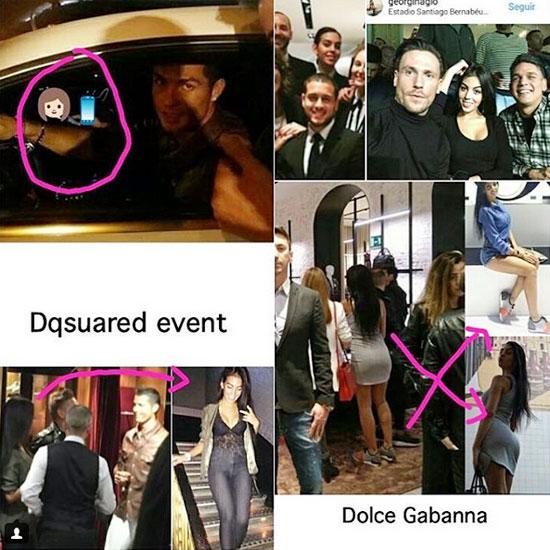 C. Ronaldo và Georgina Rodriguez tại sự kiện của D&G nơi hai người