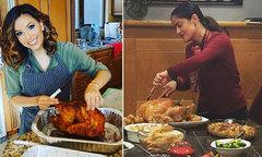 Các mỹ nhân Hollywood trổ tài nấu ăn trong ngày lễ Tạ ơn