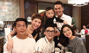 Hà Tăng dự tiệc sinh nhật con trai Trà My Idol