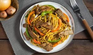 Spaghetti thịt lợn xào tiêu đen