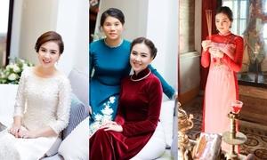 5 bộ áo dài MC Mai Ngọc mặc trong chuỗi ngày trọng đại