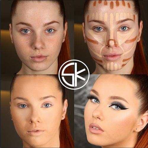 Nhờ tạo khối, bạn có thể che đi mọi khuyết điểm như mặt quá to hay quá dài, tỷ lệ khuôn mặt không phù hợp...