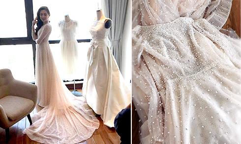 MC Mai Ngọc mặc váy cưới 200 triệu, đính 10.000 viên pha lê