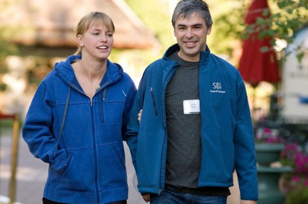 Larry Page is one of the founders of Google. His net worth in November 2016 was more than $30 billion. Little is known about his partner, who is seven years younger than him. Understandably, she tries to avoid too much public attention. It is known that they got married just a few months after starting a relationship.