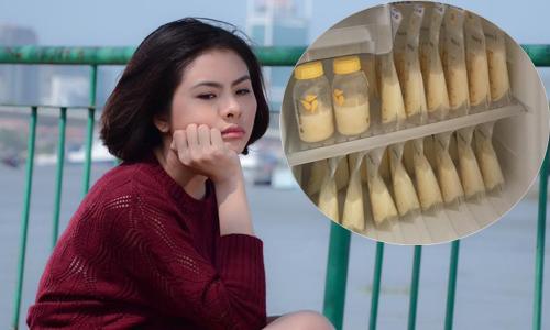 Vân Trang 'khóc tức tưởi' khi bé chê ti mẹ