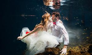 Ảnh cưới đẹp ma mị trong 'hố thần tiên'