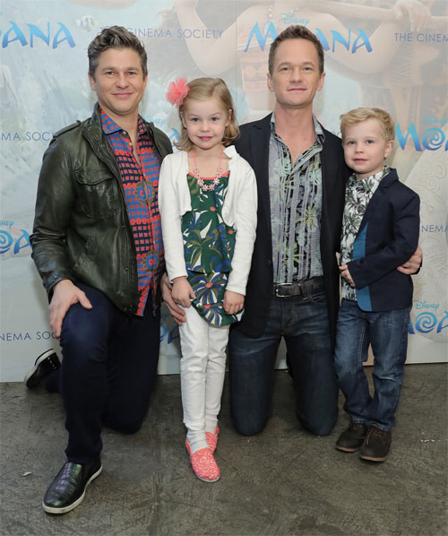 Neil Patrick Harris and David Burtka brought their twins Harper and Gideon, 6.
