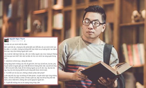 Nguyễn Ngọc Thạch chia sẻ cách 'tự bảo vệ con mình khỏi ấu dâm'