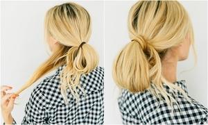 Tạo kiểu tóc búi thấp điệu đà trong chưa đầy 5 phút