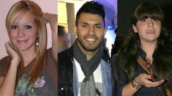 Aguero đau đầu vì người mới Karina (trái)