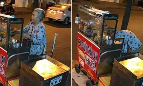 Cụ bà gần 70 tuổi bán kem cuộn nuôi cả gia đình