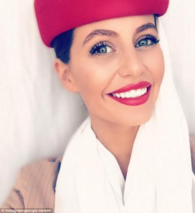 Stunning Emirates air hostess Georgia Nielsen has built up an impressive 35,000 followers on Instagram