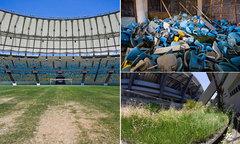 Sân vận động của Olympic Brazil xuống cấp khó tin