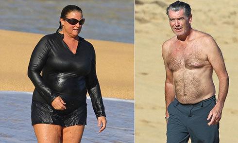 Vợ ngày càng béo nhưng tài tử 'Điệp viên 007' vẫn yêu hết lòng