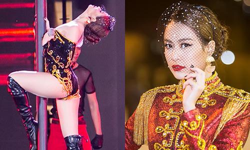 Hoàng Thùy Linh múa cột, khoe đường cong trên sân khấu