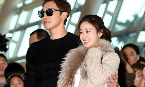 Bi Rain công khai tình tứ ôm eo Kim Tae Hee