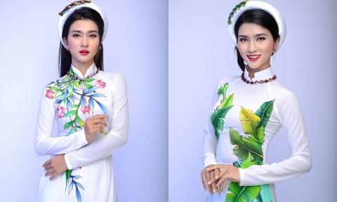 Kim Tuyến thanh thoát với áo dài cưới màu trắng