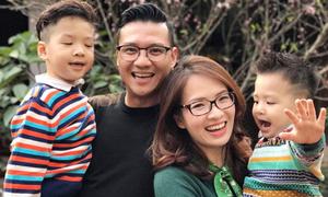 Đan Lê khoe ảnh gia đình hạnh phúc đầu năm mới