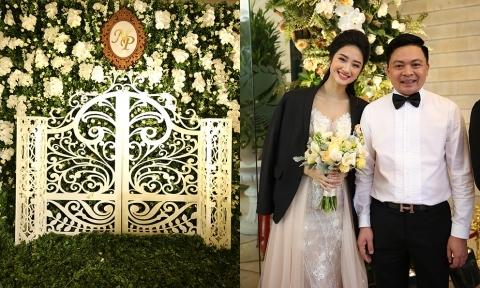 Hoa hậu Thu Ngân chi hơn nửa tỷ đồng trang trí đám cưới ở quê nhà