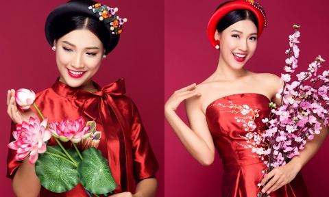 Á hậu Hoàng Oanh gợi ý 4 mẫu áo dài cưới cách tân