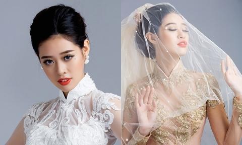 Khánh Vân bày cách make up phù hợp với các kiểu áo dài ăn hỏi