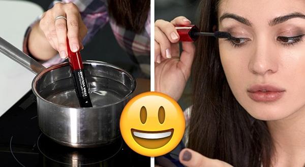 Nhúng cây mascara bị khô vào trong nồi nướng nóng khoảng 5 phút để có thể tiếp tục sử dụng.