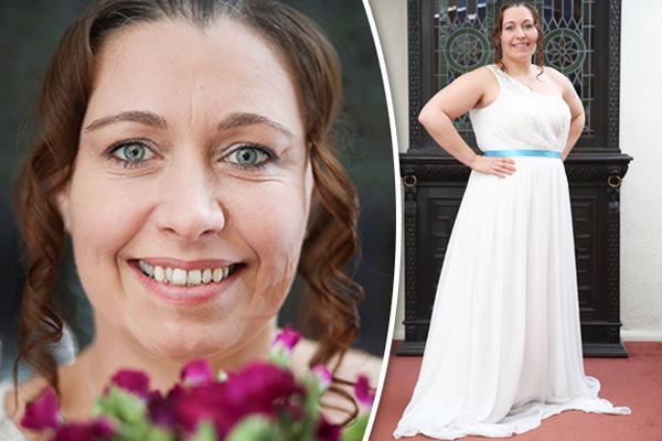 Lynne Gollogy đang rất nóng lòng chờ tới ngày cưới. Ảnh: SWNS