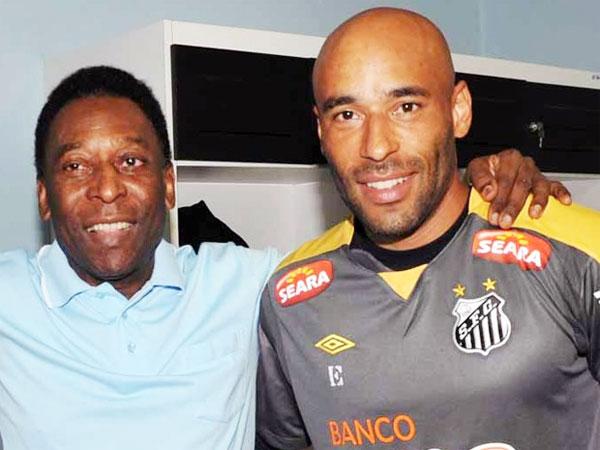 Vua bóng đá Pele và con trai Edinho/