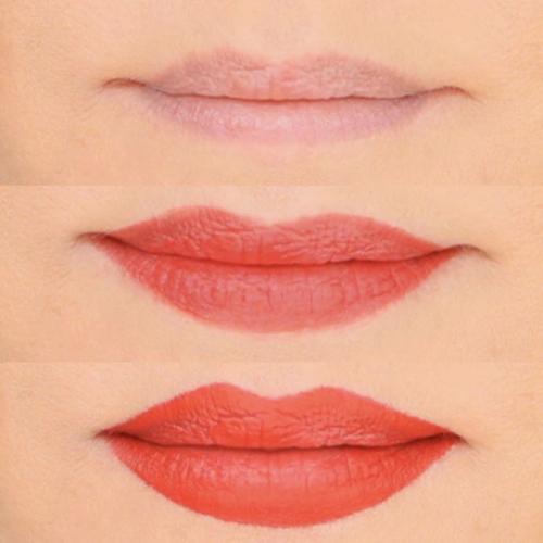 Làn môi dày gấp đôi bình thường nhờ tuyệt chiêu thoa son.