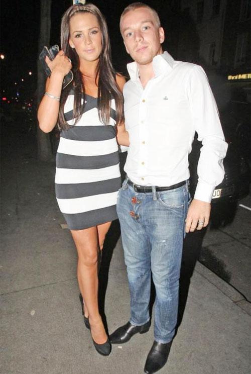 Jamie OHara và Danielle Lloyd khi còn ở bên nhau.
